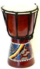 Djembe 19 cm Tambour Tam Tam Bongo Bois Artisanat djembé Aborigène peint