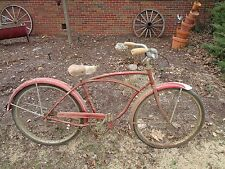 "VINTAGE SCHWINN AMERICAN 2 SPD MANUAL BICYCLE 1956 BOYS 26"" GOOD OG BARN FIND"