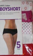 Boyshort  100% Cotton Women's 5-Pack Asstd Panties Underwear  Sz  9 XXL 16-18