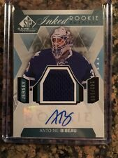 2016 UD SP GAME USED ANTOINE BIBEAU ROOKIE INKED SWEATERS JERSEY AUTO RC /149
