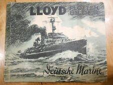 Lloyd Flotten Bilder Deutsche Marine Cigarette album book 1933 German Navy
