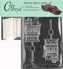 Slot Machine Lolly Chocolate Mold w/Cybrtrayd Instructions FREE STICKS