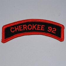 Cherokee 92 Biker Motorcycle Rally Patch For Leathers Vest Jacket Collectible