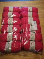 12 x king Cole 77 lipstick pink pricewise DK double knit 100g balls