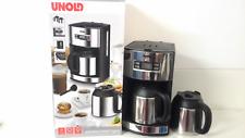 UNOLD Vollautomat Kaffeemaschine mit 2 x Edelstahl Kannen,1000Watt,bis 10 Tassen