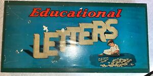 99 pcs!!  EDUCATIONAL LETTERS MFD BY ROOT  WOOD LETTERS, NUMBERS & BOX