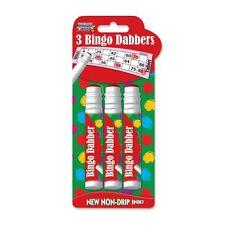 3 x BINGO DABBER DABBERS BINGO MARKERS MULTI-COLOURED PENS FOR BINGO TICKETS NEW