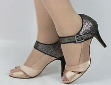 New Women Satin Latin Salsa Ballroom Dance Shoes High Heels Size 5-10