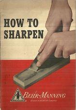How to Sharpen Behr-Manning Norton Abrasives 1952