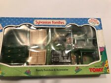 1985 Sylvanian Families calico critters Vintage Dollhouse Furniture Kitchen New!