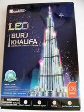 3D Puzzle Burj Khalifa LED Cubic Fun Höhe: 1,46m hoch Dubai Light Licht