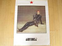 ORIGINAL!! 1983 vtg EURYTHMICS annie lennox pop MUSIC POSTER promo ART 80s NOS
