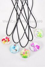 Sided Glass Fashion Necklaces Jewelry Wholesale 5 My Little Pony Corded Double