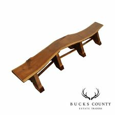 Black Walnut Studio Crafted 10 Foot Live Edge Bench