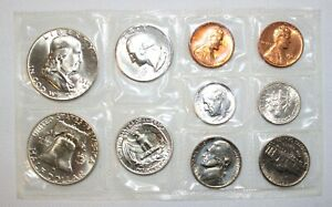 1963 P & D Coin Set 3rd Party Put Together 1c-50c Coins 6 Silver Uncirculated