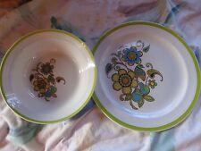 Noritake Craftone Morning Song Platter/Chop Plate Vegetable/Serving Bowl '70s GU