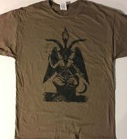 BAPHOMET T SHIRT DESERT SAFARI satanic gothic HALLOWEEN satan heavy metal S-XL