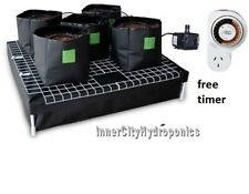 Completed Setup of Hydroponic Pots Watering System & Water Pump Indoor Grow Tent