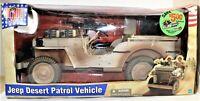 GI Joe Jeep Desert Patrol Vehicle Desert Camo 1/6 Scale Hasbro Ultimate Soldier