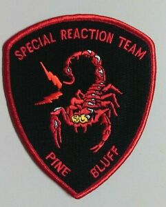 Pine Bluff, Arkansas Special Reaction Team Shoulder Patch with Scorpion