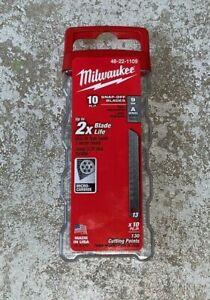 !*US*! Milwaukee® 9mm General Purpose Snap-Off Knife Blades (10 PK) 48-22-1109