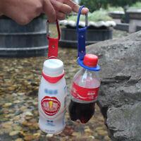 2stk Flaschenhalter-Schnallenhaken mit Karabinerclip für Outdoor-Camping Wandern