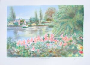 Rolf RAFFLEWSKI : Jardins de Giverny (4) LITHOGRAPHIE originale signée, 600 ex