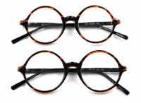 Round Tortoise Eyeglass Frames Spectacles Flexible Glasses Mens Womens Rx LFA318
