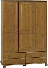 Steens Richmond Solid Pine 3 Door 4 Drawer Triple Wardrobe Metal Drawer Runners