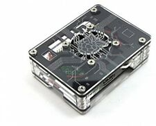 Zebra Virtue ~ Black Ice Case For Raspberry Pi 3, 2 And B+ With Fan By C4Labs