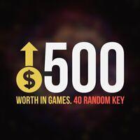 x40 Random Steam Key Premium Games (+$500) Global Delivery Fast (Region-Free)