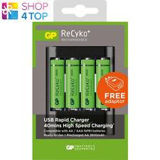 GP Recyko + U421 Batterie Chargeur USB Chargeur Rapide Aa AAA 4 Aa Nimh 2700 MAH