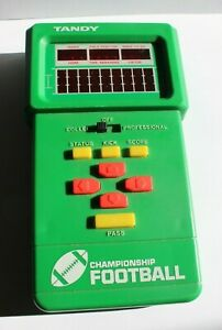 Vintage 1970's Tandy Championship Football Handheld Electronic Sports Game