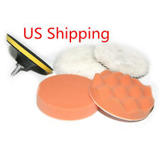 Gross Polishing Buffing 5'' Pad Kit for Car Polisher Buffer with Drill Adapter
