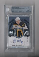 CARL SODERBERG 2013-14 THE CUP AUTO PATCH RC #134/249 BRUINS BGS 9 10