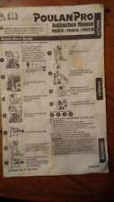 Poulan Pro PR 4218 Operators Manual