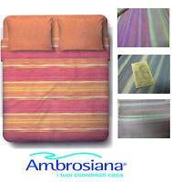 Completo letto, Lenzuola, 100% Cotone. AMBROSIANA - 6161. Singolo e Matrimoniale