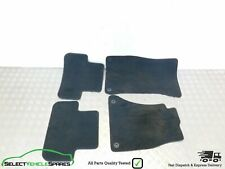 AUDI A4 B8 GENUINE FRONT / REAR INTERIOR FLOOR MATS SET OF 4 BLACK/GREY 2008-15