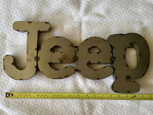 Jeep sign metal tin 3D Letters vintage rustic style Man Cave