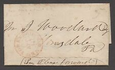**US Stampless Cover, NY - Philadelphia RR, Folded Letter, 9/18/1850