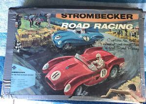 Vintage 1964 Strombecker International Road Race Set 1 Parts Car Untested