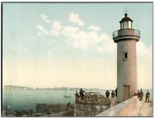 Cannes. Le phare. PZ vintage photochromie,  photochromie, vintage photochrome