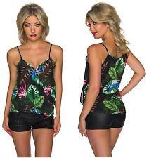 Femmes Neuf Modes Top Shirt Italie 34 36 38 multicolore à Langer-LOOK Chemisier Noir