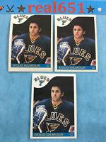 1985 #76 DOUG GILMOUR Lot x 3   O-Pee-Chee   Topps   Blues   HOF   NM to NM-MT/+