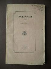 Libri Antichi Padova Leoni Iscrizioni Sepolcrali 1842 Museo Patrio Monumentali
