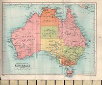 1927 Mappa ~Australia~ Queensland Victoria Nuovo South Galles Tasmania