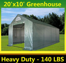 Green Garden Hot House Greenhouse 20' x 10' Triangle Top - Total Weight 140 lbs