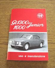 Uso e manutenzione Alfa Romeo GT 1300 1600 Owner's manual Instruction Book-