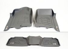 GMC Sierra 1500 Double Cab 2014 - 2016 GRAY Floor Liner 1st & 2nd row 3pc