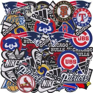 Wholesale Lot Sport Football Baseball Basketball Sew Iron on Embroidered Patch